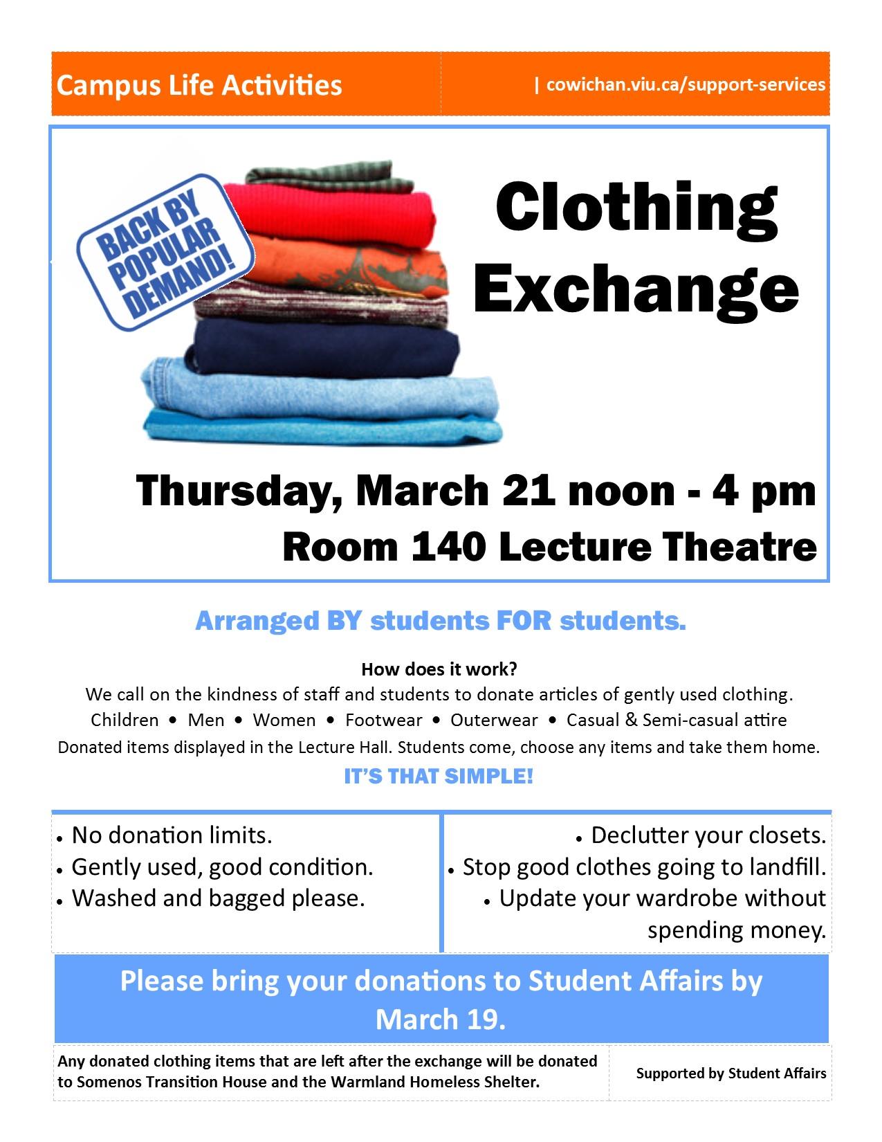 48c5864e Clothing Exchange | Events | VIU